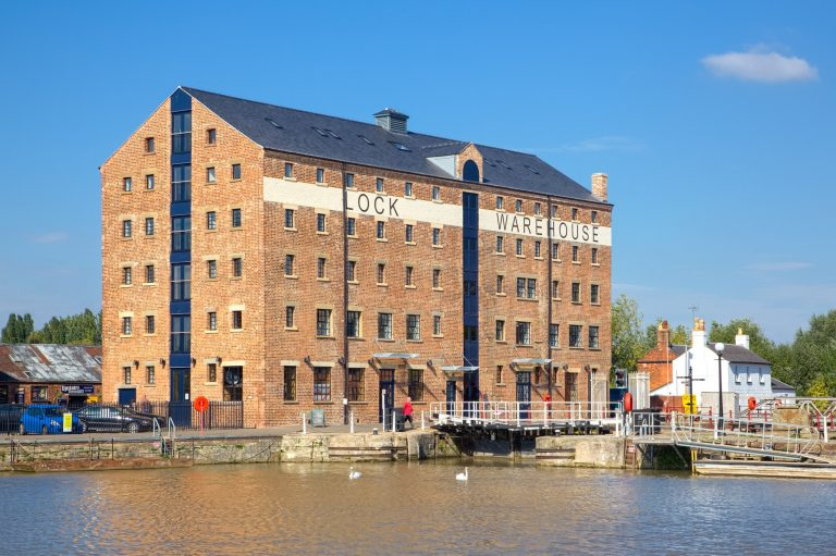 Newly restored building at Lock Warehouse - Gloucester Docks