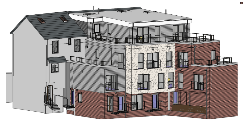 Market Street Cinderford, a residential and commercial development of MELT Property.