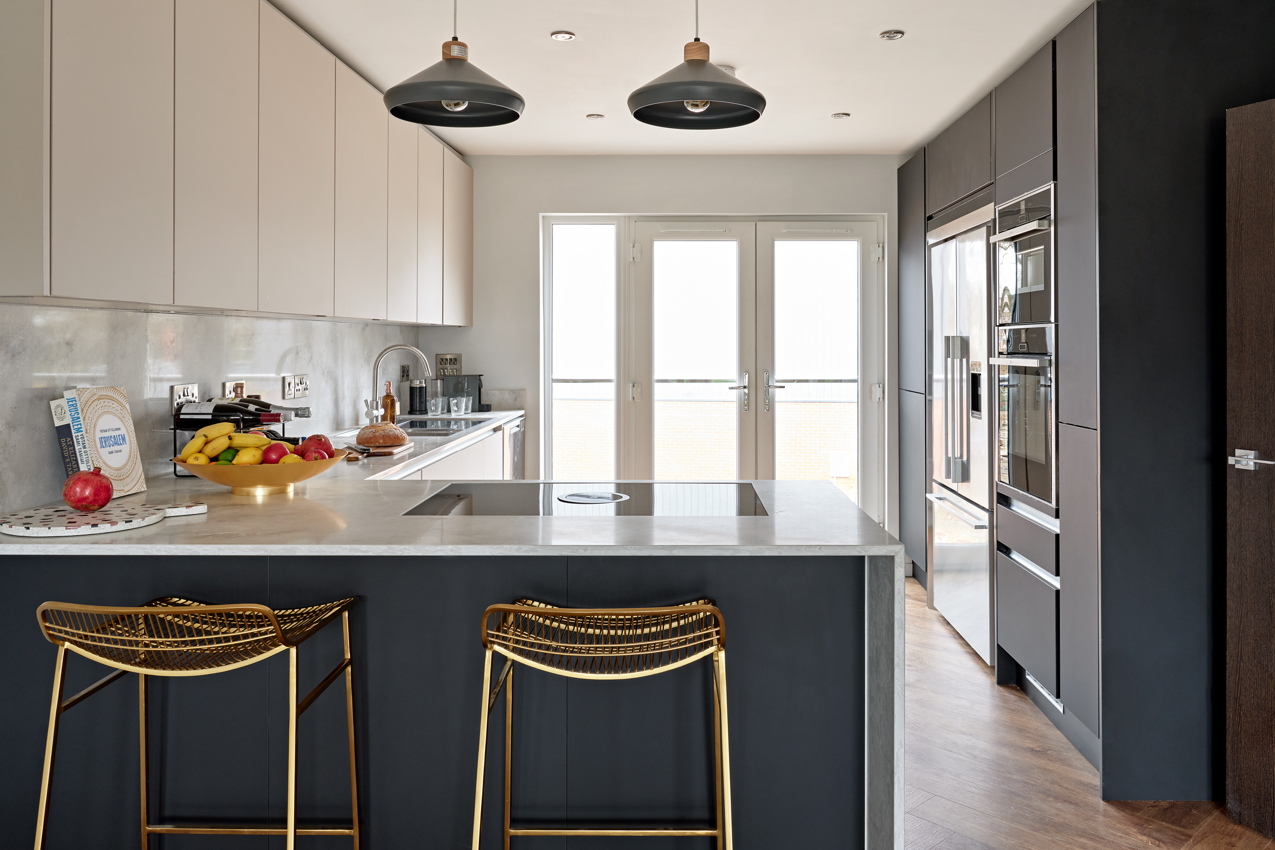 The kitchen at Lime Grove, equipped with state-of-the-art fittings and furniture from Fisher & Paykel and Neff Kitchen.
