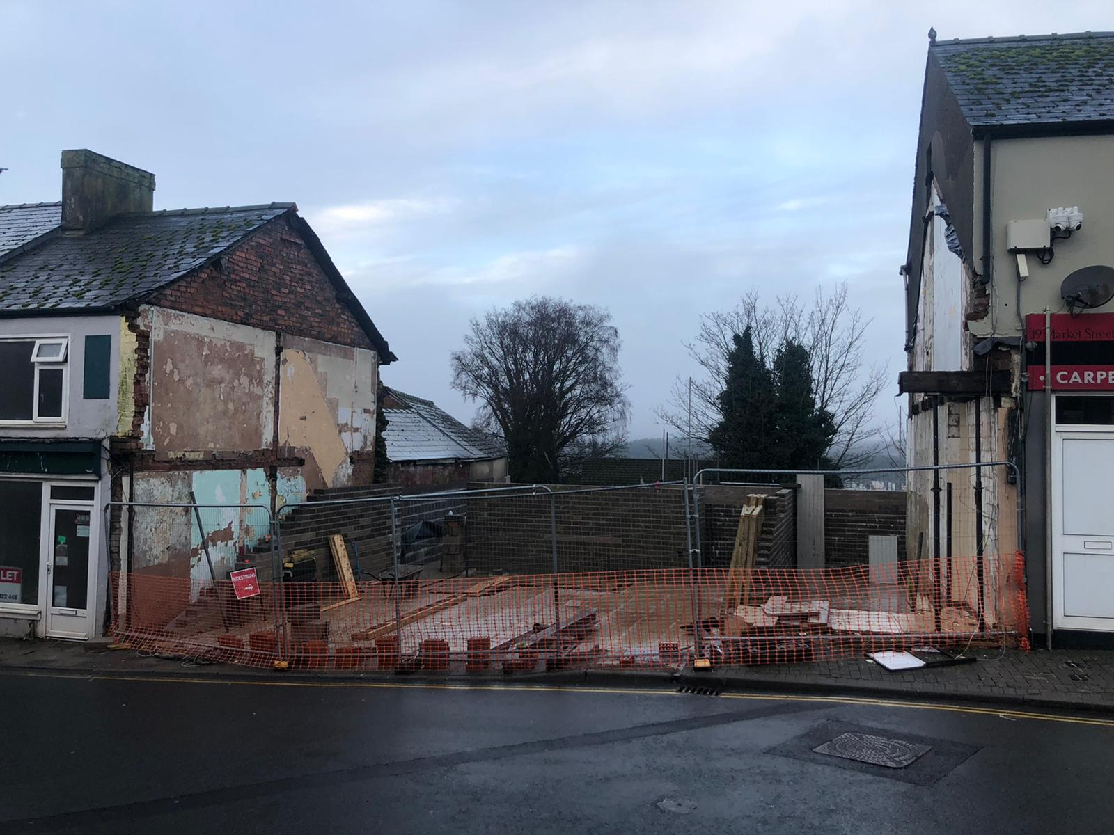Project site at Cinderford for a residential and commercial development