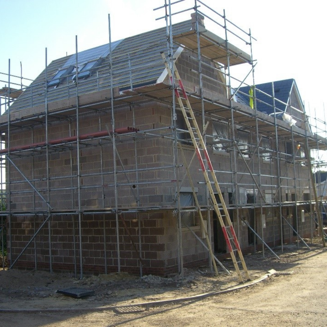 Types of Property Investment, ongoing construction of a residential building